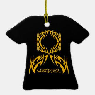 Appendix Cancer Warrior Tribal Ribbon Ornament