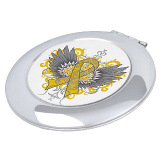 Appendix Duct Cancer Cool Wings.png Travel Mirror