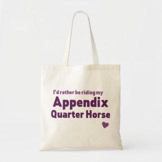 Appendix Quarter Horse Budget Tote Bag