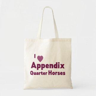 Appendix Quarter Horses Budget Tote Bag