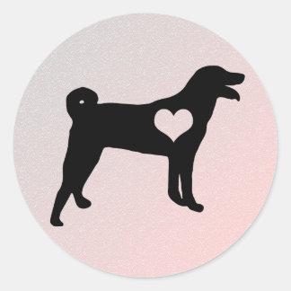 Appenzeller Sennenhund Heart Stickers