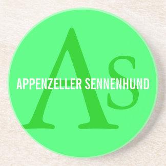 Appenzeller Sennenhund Monogram Beverage Coaster