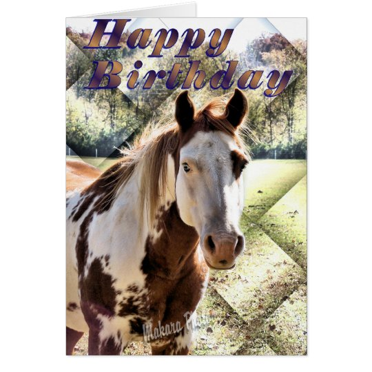 Appie Horse Bday Card-customise Card