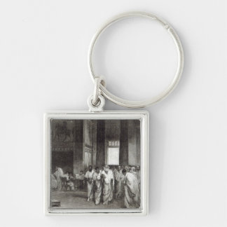 Appius Claudius Silver-Colored Square Key Ring