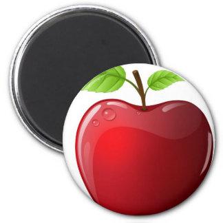 apple 6 cm round magnet