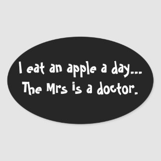 Apple a Day Sticker - Funny Joke for Men
