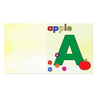 Apple A Letter A Business Card Templates