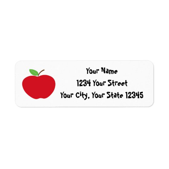 Apple Address Label
