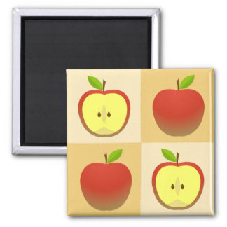Apple and a Half Magnet