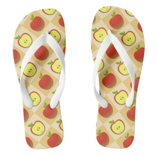 Apple and a Half pattern Flip Flops