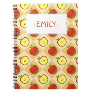 Apple and a Half pattern Notebooks