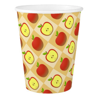 Apple and a Half pattern Paper Cup