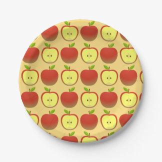 Apple and a Half pattern Paper Plate