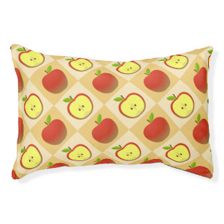 Apple and a Half pattern Pet Bed