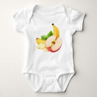Apple and banana baby bodysuit