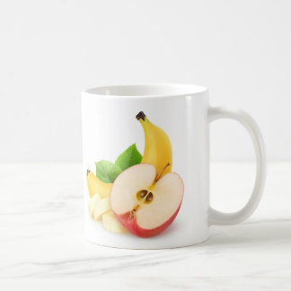 Apple and banana coffee mug