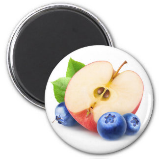 Apple and blueberries magnet