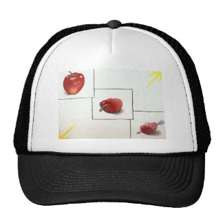 Apple and Hearts Transformation Mesh Hat