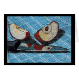 APPLE AND KNIFE ARTWORK GREETING CARDS