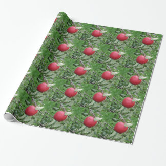 Apple and Leaves Wrapping Paper