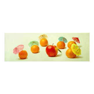 Apple and mandarins - Exotic Fruit Panorama Art Photo