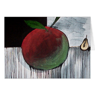 Apple and Pear by Gregory Gallo Greeting Card