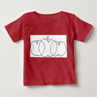 Apple and pear fruit culturist line drawings, 1903 baby T-Shirt