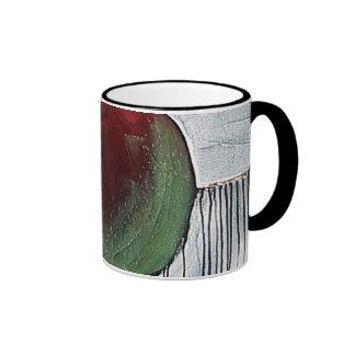 APPLE AND PEAR RINGER COFFEE MUG