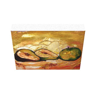 Apple and two pears, still life canvas print