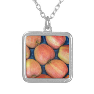 apple at the market silver plated necklace