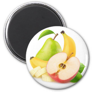 Apple, banana and pear magnet