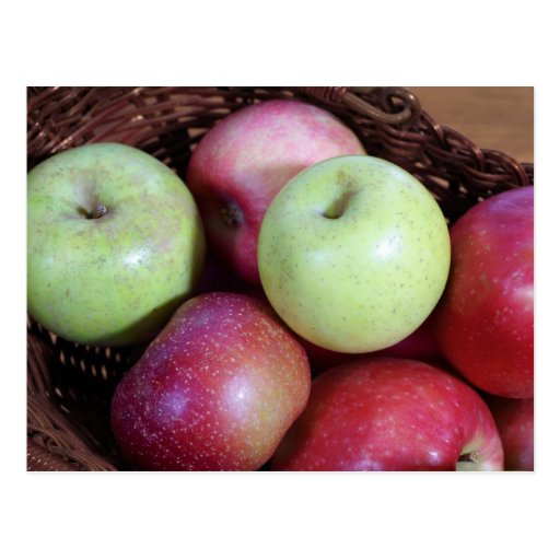 Apple Basket Postcard