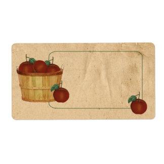 Apple Basket Product Labels