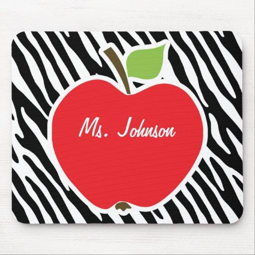 Apple; Black & White Zebra Stripes Mouse Pad