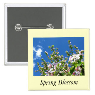 Apple Blossom 15 Cm Square Badge
