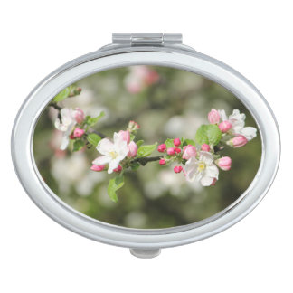 Apple Blossom Branch Mirror For Makeup