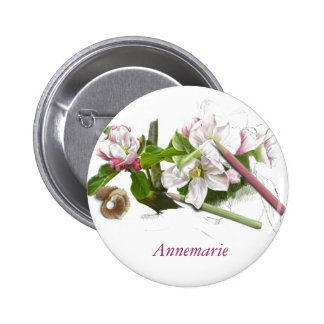 Apple blossom button