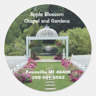 Apple Blossom Chapel and Gardens Round Sticker