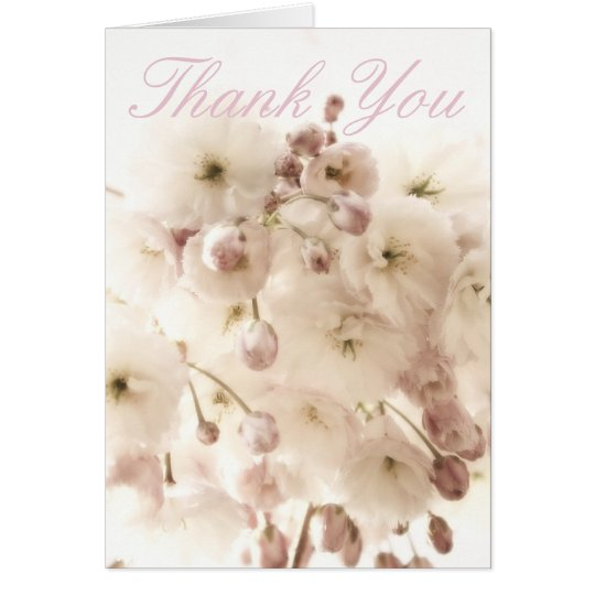 Apple Blossom Cloud Thank You Card