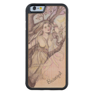 Apple Blossom Dryad Fairy Faerie Fantasy Myth Carved Maple iPhone 6 Bumper Case