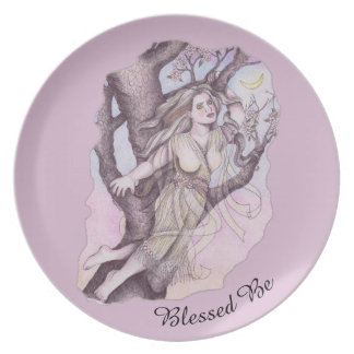 Apple Blossom Dryad Fairy Faerie Offering Dish Dinner Plate