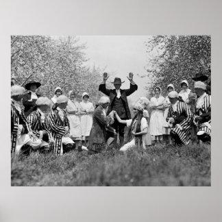 Apple Blossom Festival, 1920s Print