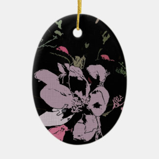 Apple Blossom in Ink Ceramic Oval Decoration