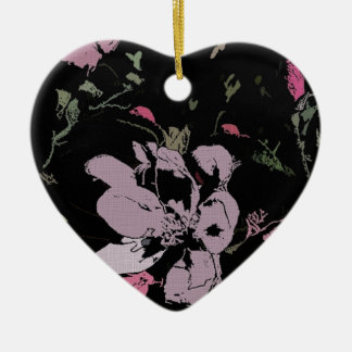 Apple Blossom in Ink Christmas Ornament