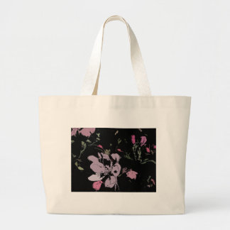 Apple Blossom in Ink Large Tote Bag