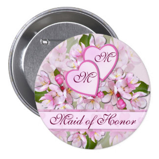 APPLE BLOSSOM ~ Maid of Honor  Button