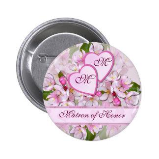 APPLE BLOSSOM ~ Matron of Honor  Button