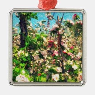 Apple Blossom Oil Painting Christmas Ornament