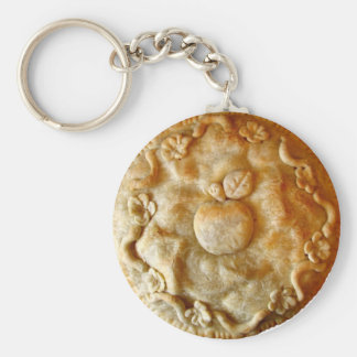 Apple Blossom Pie Basic Round Button Key Ring