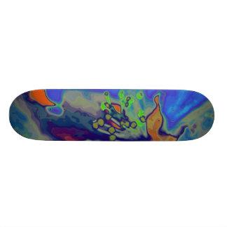Apple blossom skateboard